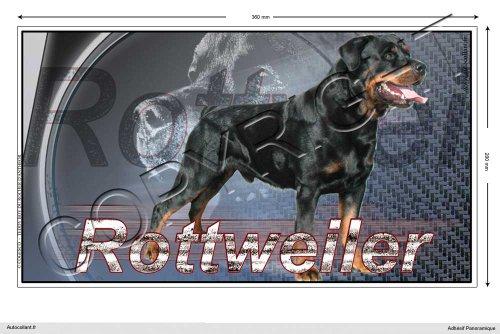 Autocollant chien panoramique 36cm Rottweiler-02