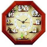 Reutter Porzellan Miniaturen - Wanduhr mit Hummel-Miniaturen