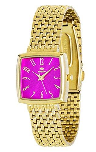 Reloj Marea Mujer B41148/7 Fucsia Dorado Cuadrado