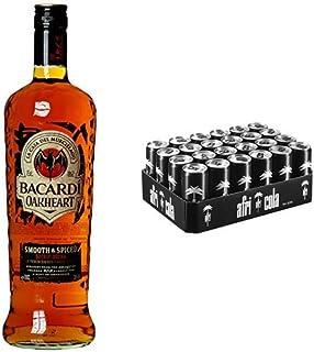 Bacardi Oakheart Spiced Rum 1 x 1 l mit afri cola, EINWEG 24 x 330 ml