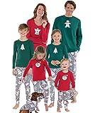 Pijamas Navidad Familia Conjunto Pijama Navideñas Papa Noel de Reno Niños Hombre Mujer Niña Chica Chico Homewear Pantalon Pijamas para Toda La Familia Sudadera Chándal Suéter de Navidad Invierno XL