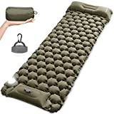 MOUNTDOG Camping Sleeping Pad Mat with LED Camping Lantern, Ultralight Inflatable Backpacking Pad Air Mattress for Camp Hiking Traveling Tent, Camping Lamps with 5 Light Modes, Handle & Carabiner