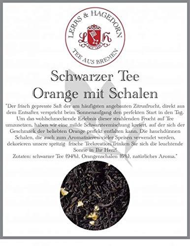 Schwarzer Tee Orange mit Schalen 1 kg - Orange