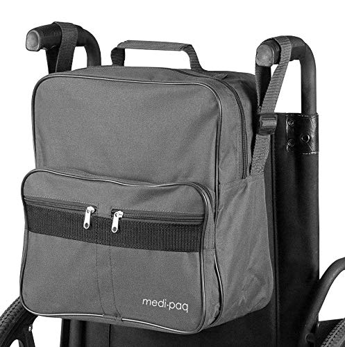 DIY Doctor Rollstuhltasche – Befestigt an den Griffen um nützlichen und praktischen Stauraum zu bieten (Grau)