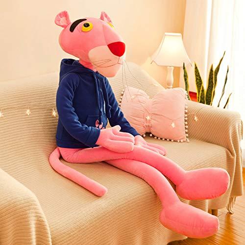 Shulcom Muñeca de Leopardo Rosa de Peluche para niña durmiendo con Almohada, Regalo para niños