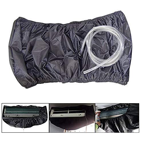 FYZS Air Conditionné Couverture, Unité AC bricolage poussière lavage propre sac protecteur avec 250cm Les conduites d'eau, for 1.5P-3P Climatiseur (Color : Gray, Size : M)