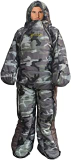 Woolala Full Body Wearable Sleeping Bag Adults Home Office Use, Body Suits Quilt/Blancket Cold Weather Arm/Leg Holes