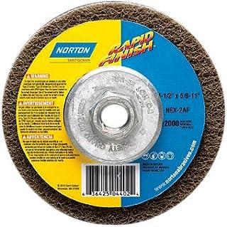 Norton Bear-Tex Rapid Finish Depressed Center Abrasive Multi-Purpose Wheel, Type 27, Fiber Backing, 5/8-11 Arbor, Silicon ...