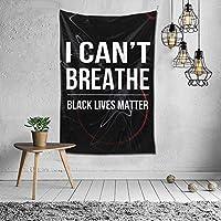 タペストリー私はブラック・ライヴズ・マターを呼吸することができませんタペストリー壁掛けタペストリー部屋60x40インチ150 * 100CM