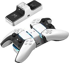 Cargador controlador PS5, doble USB tipo C Fast Playstation 5 estación de carga con indicador LED, protección de chip de seguridad, para Sony DualSense controlador, WAKEYBOO