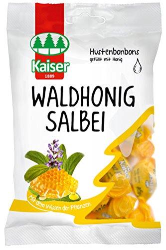 Kaiser Waldhonig-Salbei, Hustenbonbons gefüllt mit Honig - 90g - 6x