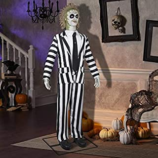 Gemmy 6' Tall Life Size Animated Beetlejuice Halloween Prop