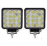 Faro da lavoro a LED, 2 X 48W LED lavoro fuori strada luce lampade riflettore proiettore per Off Road Moto 4WD SUV ATV UTV Camion [Classe di efficienza energetica A]