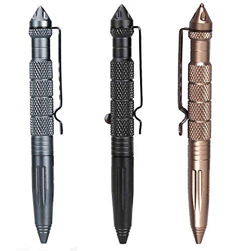 JewelBeauty Professional Defender Tactical Pen Aircraft Aluminum Self Defense Pen with Glass Breaker Writing Multifunctional Survival Tool