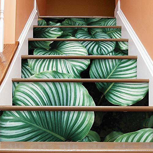 Goodvk Calcomanías para Escaleras Pegatinas Papel Autoadhesivo Impermeable Etiqueta de la Pared DIY Home Decal Wallpaper Decora tu Hogar (Color : Verde, Size : 100 * 18CM)