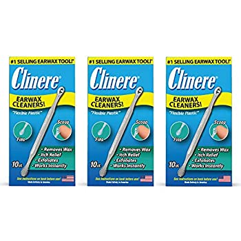 Clinere® Ear Cleaners 10 Count  Pack of 3  Earwax Remover Tool Safely and Gently Cleaning Ear Canal at Home Ear Wax Cleaner Tool Itch Relief Ear Wax Buildup Works Instantly Earwax Cleaners