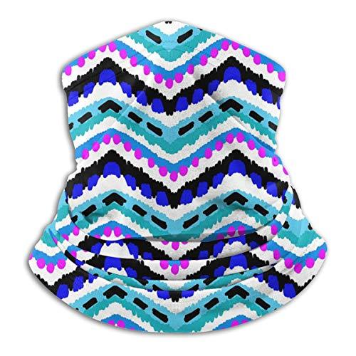 Calentador de Cuello de Microfibra Unisex Motivo Azteca Wave Balaclava Headwear Bufanda para Polvo Protección Solar Contra el Viento