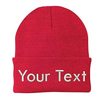 INK STITCH CP90 Design Your Own Beanie Custom Beanie - 22 Colors  Red