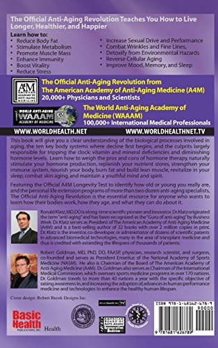 51PKsPqu2FL - The Official Anti-Aging Revolution, Fourth Ed.: Stop the Clock: Time Is on Your Side for a Younger, Stronger, Happier You