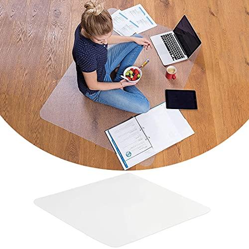 Yibcn Protector de pisos duros transparente, esteras de la silla de oficina del rectángulo para el azulejo de la alfombra, Pvc Computer & Desk Chair Mat, Easy Glide