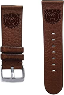 Affinity Bands Missouri State Bears 20mm Premium Leather Watch Band - 2 Lengths - 3 Leather Colors - Officially Licensed