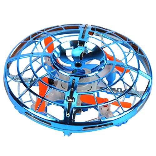 PPangUDing Mini Drohne UFO Spielzeug RC Fliegender Ball Quadcopter mit Fernbedienung Fliegendes und LED Licht Höhenlage halten Fliegendes Kinderspielzeug Für kinder Anfänger (18CMx15CMx10CM, Blau)