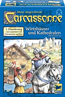 "Hans im Glück 48131 - Carcassonne 1. Erweiterung ""Wirtshäuser & Kathedralen"" (B00006BMRX) 