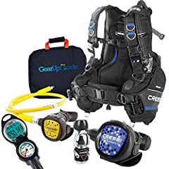 Cressi Aquaride Pro Buoyancy Control Device with intagrated weights and back weight pockets Cressi MC9 Compact 1st and 2nd stage regulator with balanced diaphragm and compact Octo Clearly see every detail of your dive with the Cressi Leonardo C2 Dive...