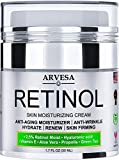 Anti Aging Retinol Moisturizer Cream for Face, Neck & Décolleté - Made in USA - Wrinkle Cream for...