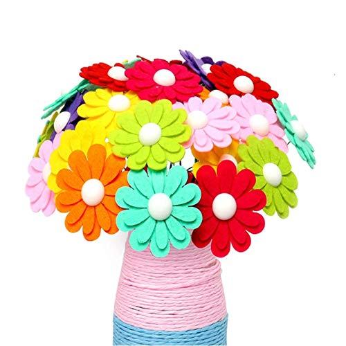 Shanji Creatives - Flor con botones para manualidades, diseño de ramo de flores para niños
