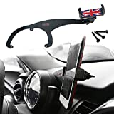 GTinthebox Smartphone Cell Phone Cup Mount Holder with Cradle Rotatable Clip (Red & Blue Union Jack Flag Style, 3.5-5.5 Inch Phone) for Mini Cooper R55 R56, 1 Pack