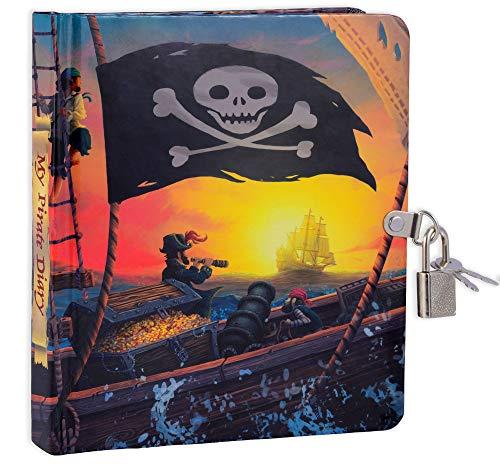 Pirate Ship Glow in The Dark Lock and Key Diary