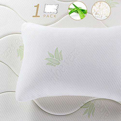 Almohada de Copos viscoelásticos con Tratamiento Aloe Vera Anti ácaros e HIPO alergénicos. (90cm_ x _45cm)