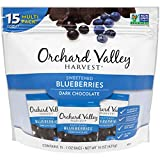 ORCHARD VALLEY HARVEST Dark Chocolate Blueberries, 1 oz (Pack of 15), Non-GMO, No Artificial Ingredients