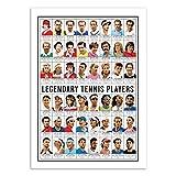 Wall Editions Art-Poster - Legendary Tennis Players - Olivier Bourdereau