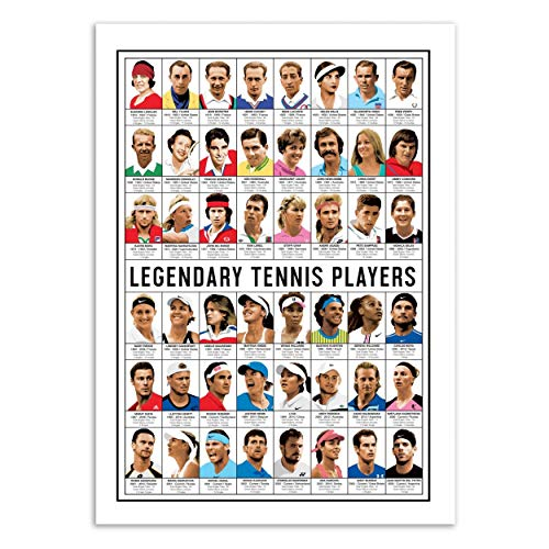 Wall Editions Art-Poster - Legendary Tennis Players - Olivier Bourdereau
