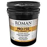 ROMAN Products 010005 PRO-732 Extra-Strength Clay Wallpaper Adhesive, 5 Gal, 1,000 Sq. Ft, White