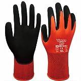 (ホラズイラ) Hollazilla 作業手袋 快適シリーズ ニトリル 耐カットシリーズ 三級 エマルジョン ゴム手袋 作業用 EN388(2141) 赤 8/M