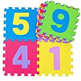 Tappeto Puzzle Certificato CE Gomma Antiscivolo Pieghevole Numeri Neonato Bambino Componibile Bimbi Gattonare Morbido Tappetino Pavimento Isolante Impermeabile Multicolore Soffice Schiuma Eva Testato