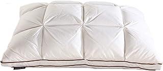 lijunjp Paquete de 2 Insertos de Almohadas de Plumas de Ganso Natural, Relleno de Fibra de Felpa súper Suave, Almohadas de algodón Natural, ergonómicamente cómodas y Transpirables, para Hotel, hogar