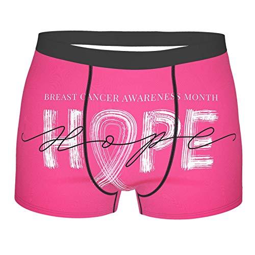 Blog Breast Cancer Awareness Men'S Boxer Briefs, Lightweight Micro-Stretch Underwear Shorts