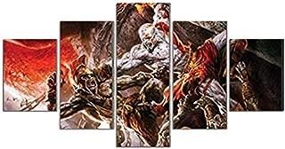 God Of war kratos print canvas decoration 5 pieces