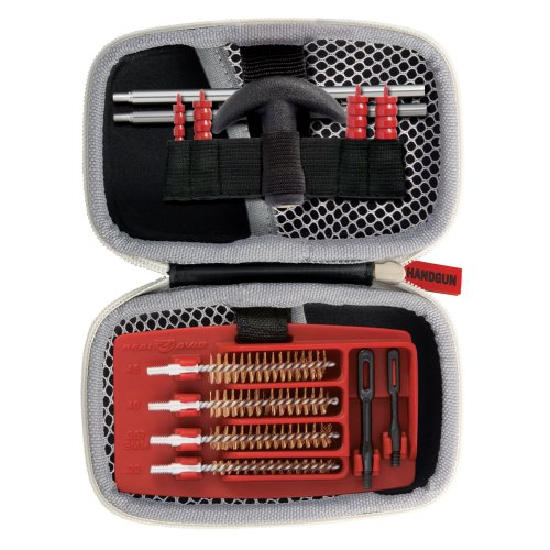 Real Avid Gun Boss Handgun Cleaning Kit – for .22, .357, 9MM, .38, .40, .44, and .45 caliber...