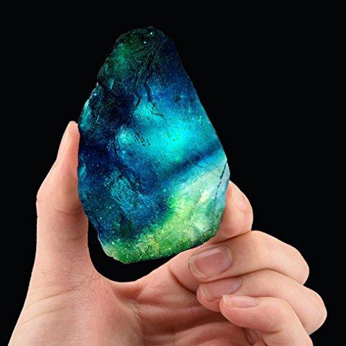 Pierre de guérison en cristal naturel Mamum - Cristal de fluorite irrégulier - Pierre précieuse aux propriétés magiques