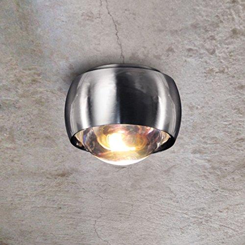 s.LUCE LED Deckenleuchte Beam Alu gebürstet Ø 8 cm Deckenlampe Effektleuchte Effektlampe Glaslinse