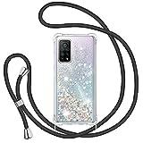 Glitter Liquide Collier Coque pour Xiaomi Mi 10T/10T Pro 5G, Glitter Silicone Paillette Étui...