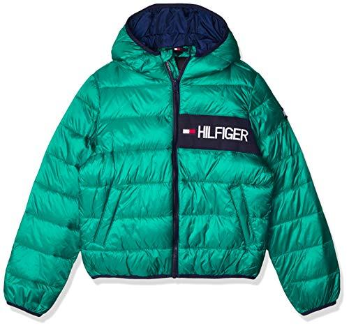 Tommy Hilfiger Essential Padded Jacket Kinder-Daunenjacke KB0KB05884 L57 Midwest Greem 8+, KB0KB05884-L57, Grün, KB0KB05884-L57 14 Jahre