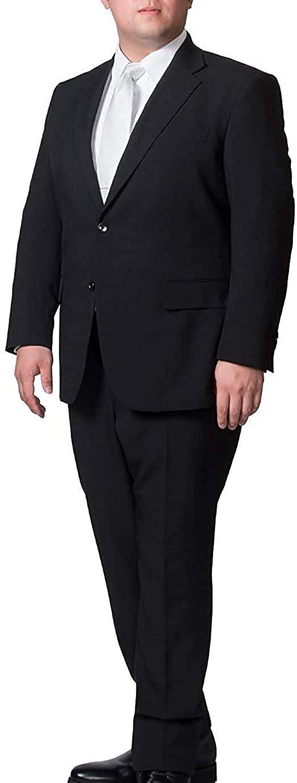 異邦人社会学調停者礼服 (裾上げ済) フォーマルスーツ 大きいサイズ (2L-7L) メンズ オールシーズン 防シワ ウォッシャブル 冠婚葬祭 ブラック 黒 スーツ