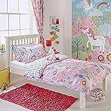 Unicorn SB D/S Pink, Biancheria da Letto per Bambini, Rosa, Singolo