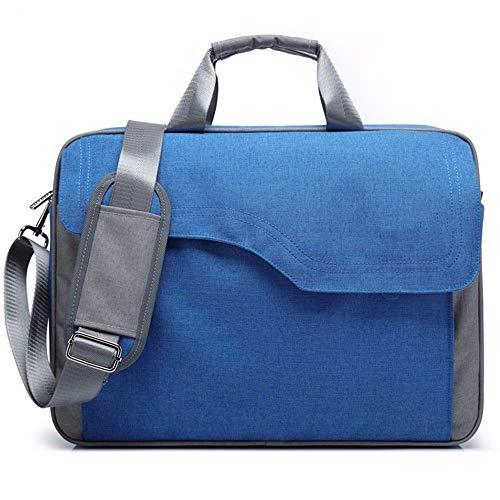 Laptoptas, modieus, schokbestendig, zakelijke tas, waterdicht, schoudertas, 17 inch, Blauw